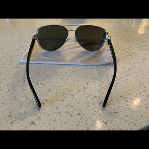 Tory Burch Accessories - Tory Burch Sunglasses Silver Black Metal